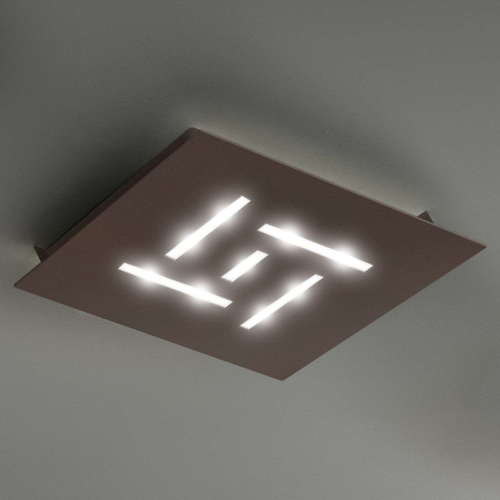 Plafoniera LED ultrapiatta Pattern marrone