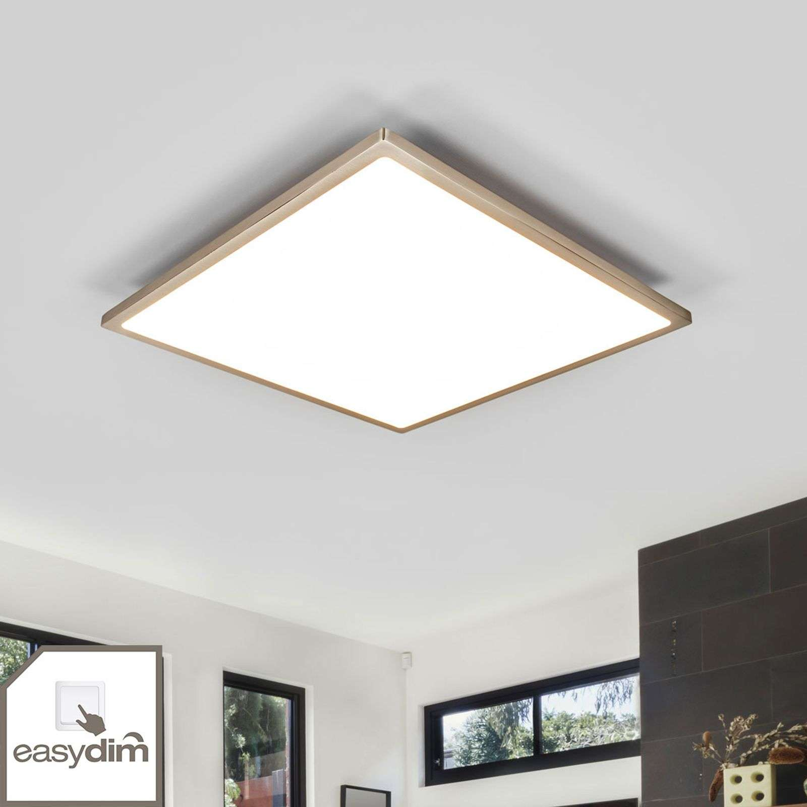 Pannello LED Moira color nichel Easydim