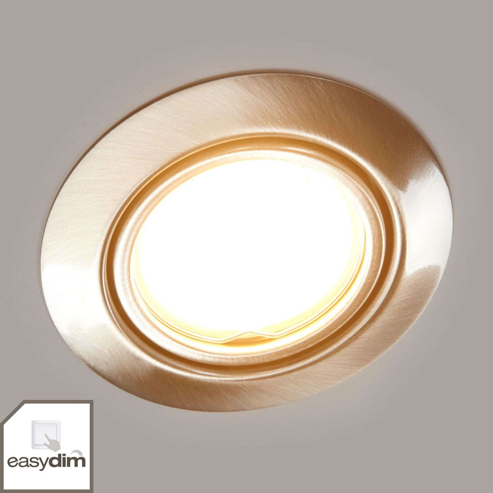 Set di 3 downlights easydim Juna con LED