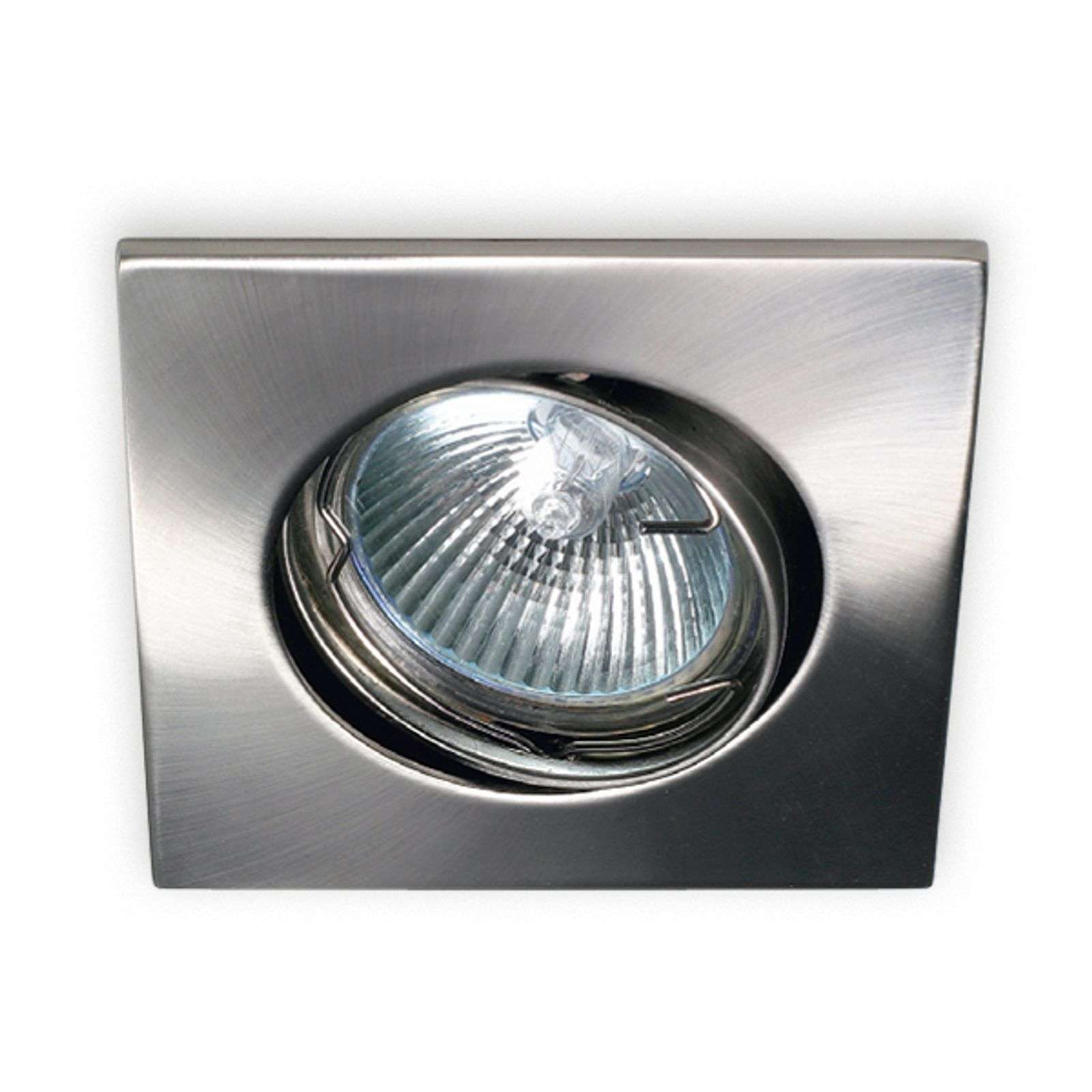 Moderno downlight Karu, nichel satinato
