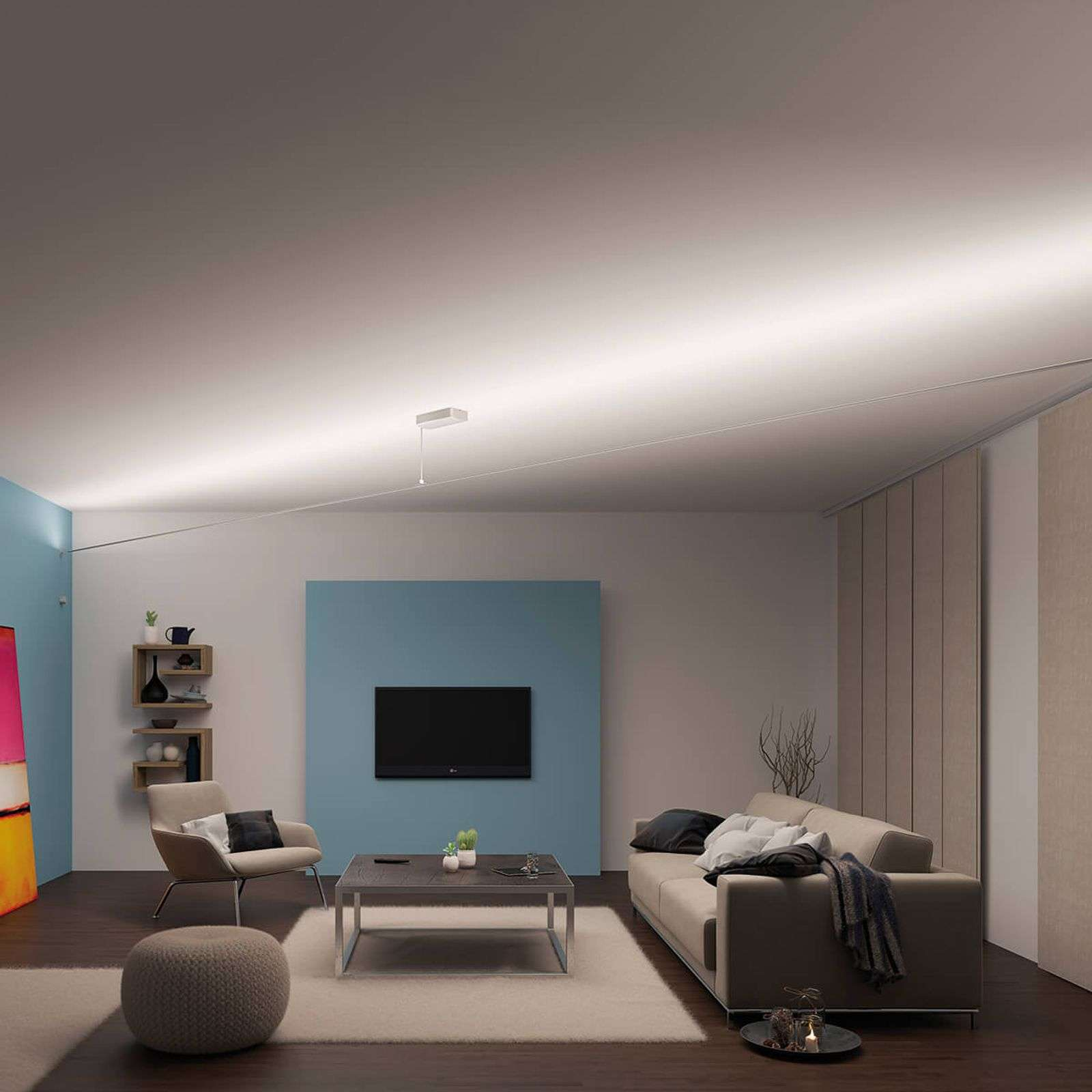 Set di funi Flying Stripe con LED a luce calda