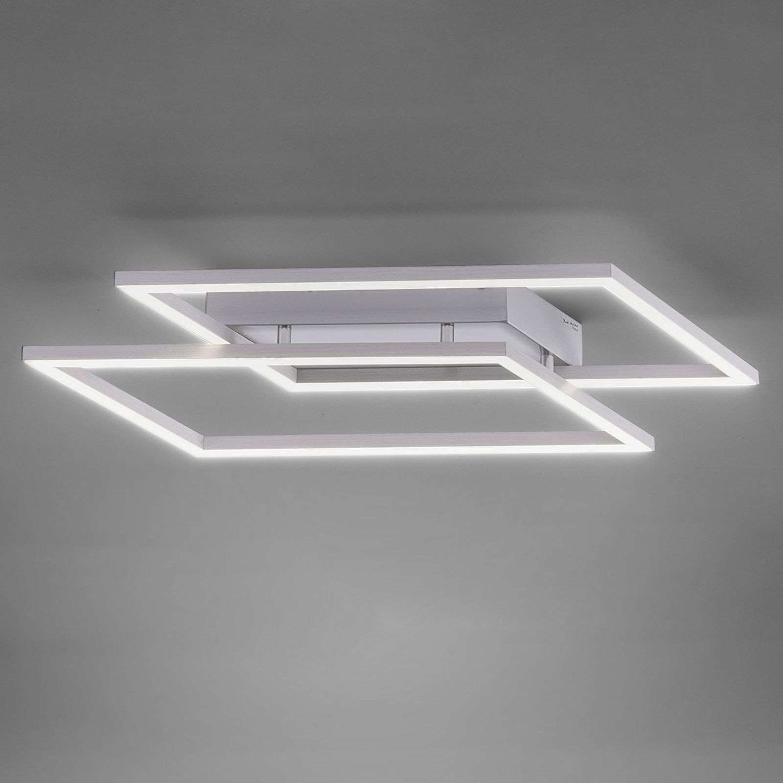 Plafoniera LED Quadra dimmerabile con interruttore