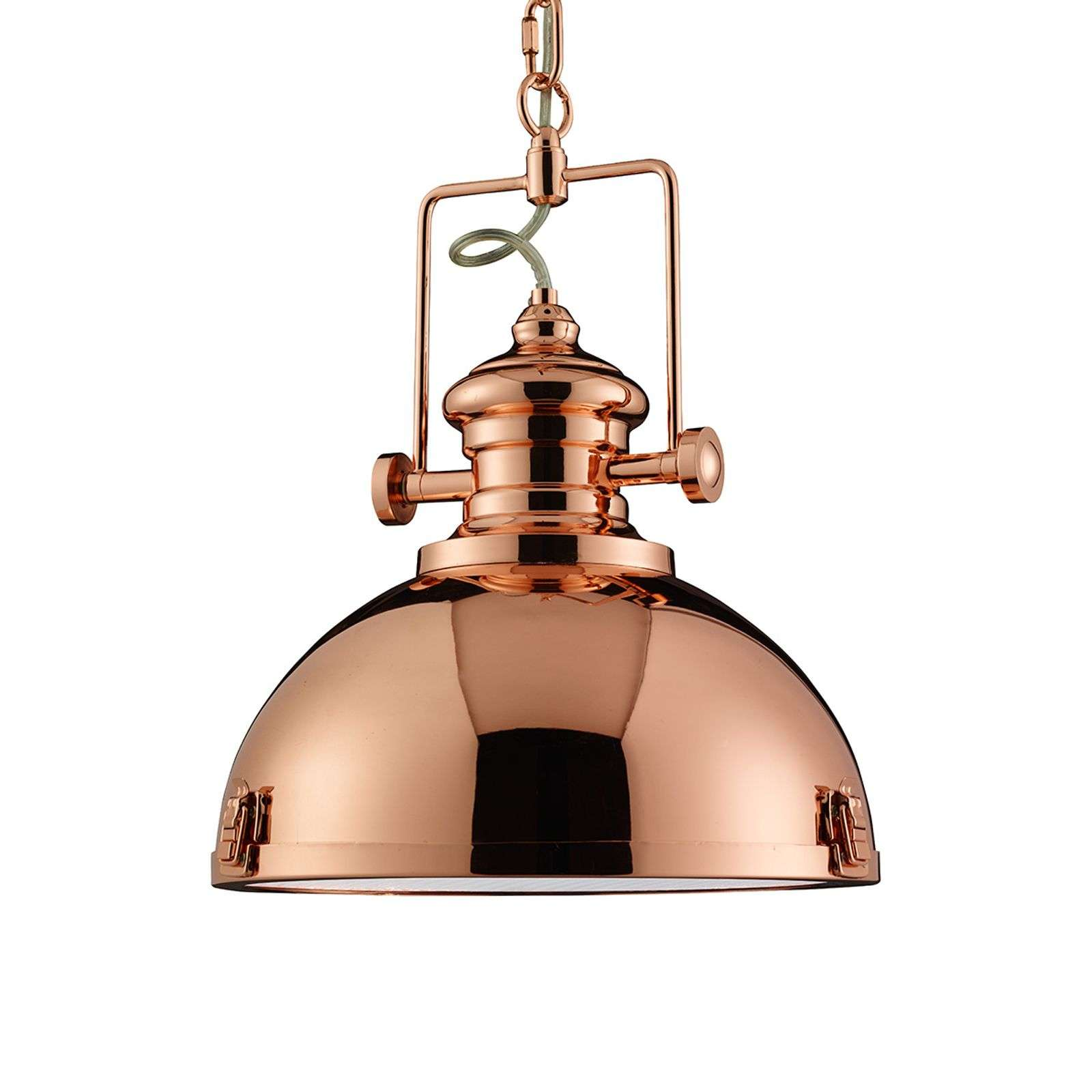 Lampada sosp Metal color rame design industriale
