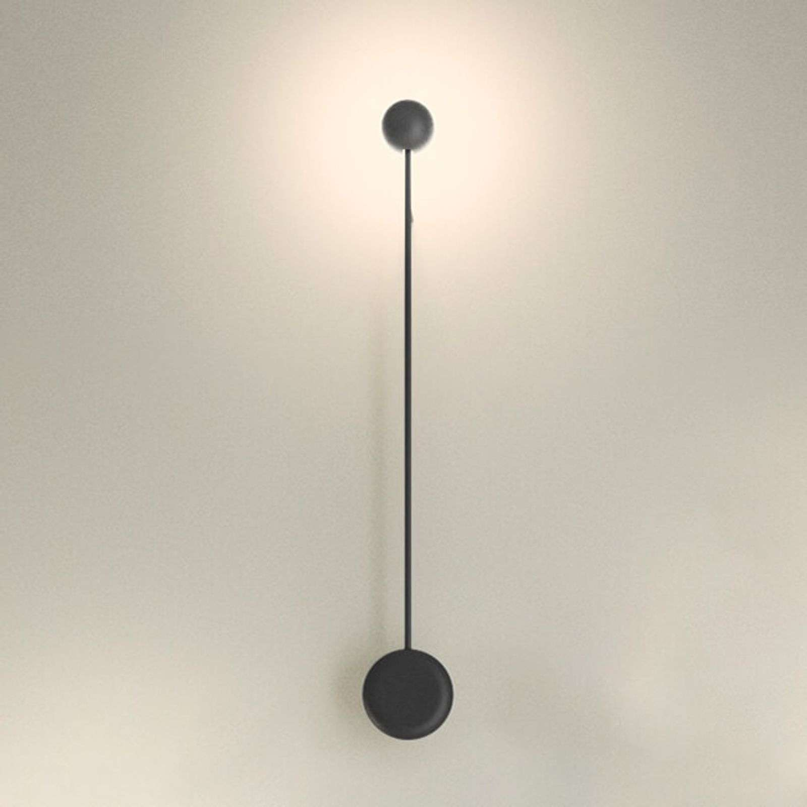 Applique LED Pin a luce indiretta, nera