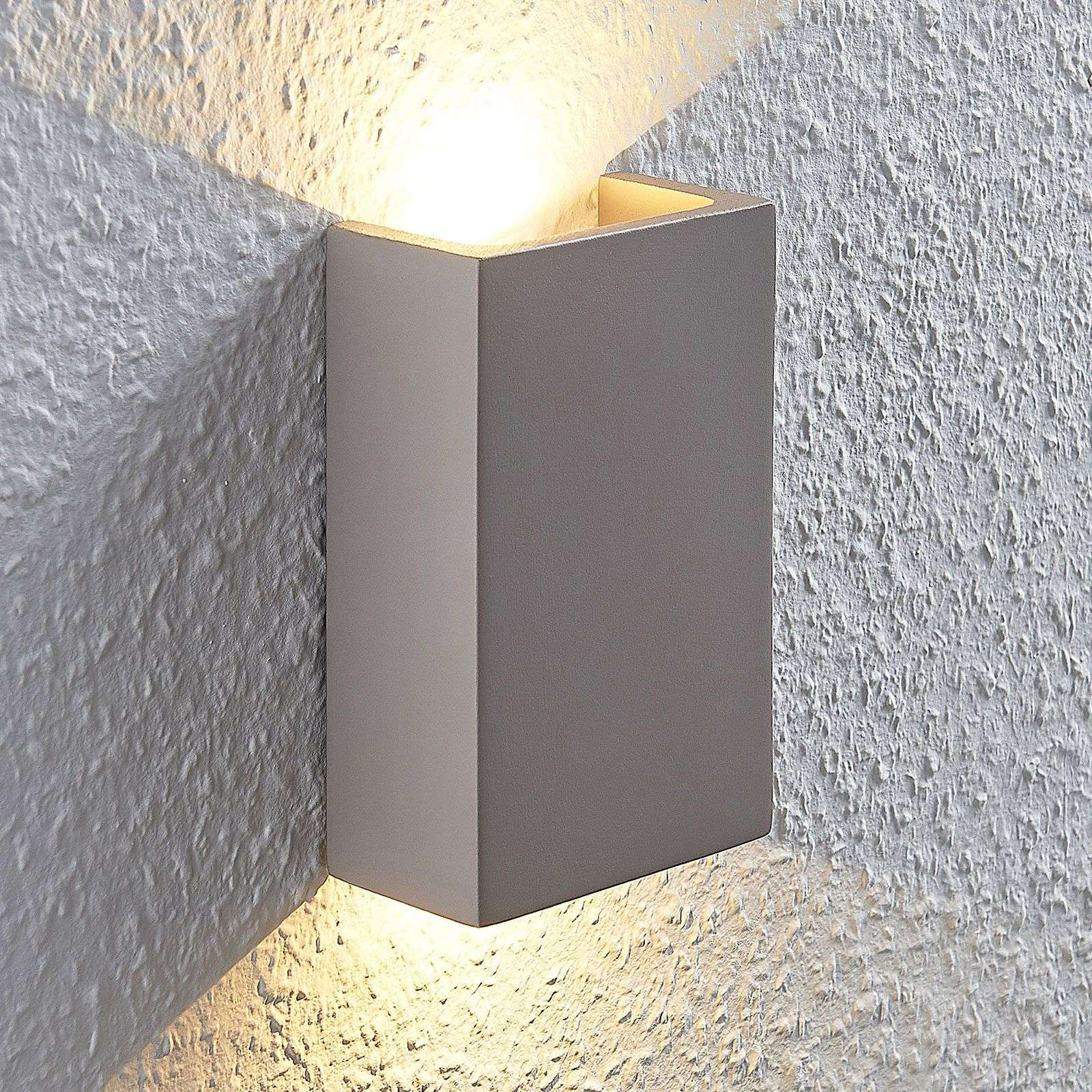 Applique LED Cataleya cemento Up&Down 10x16cm