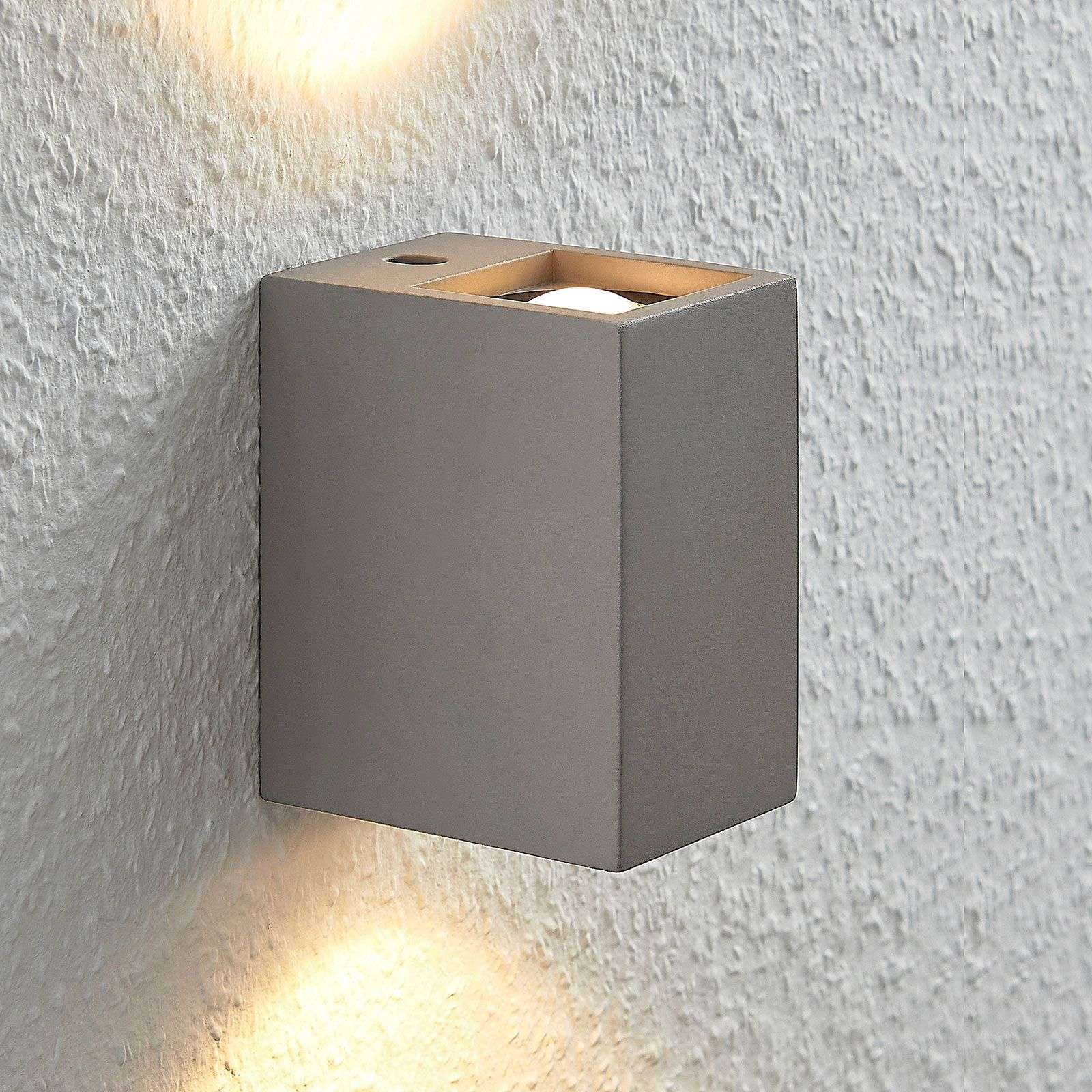Applique LED Cataleya calcestruzzo Up&Down 7x12cm