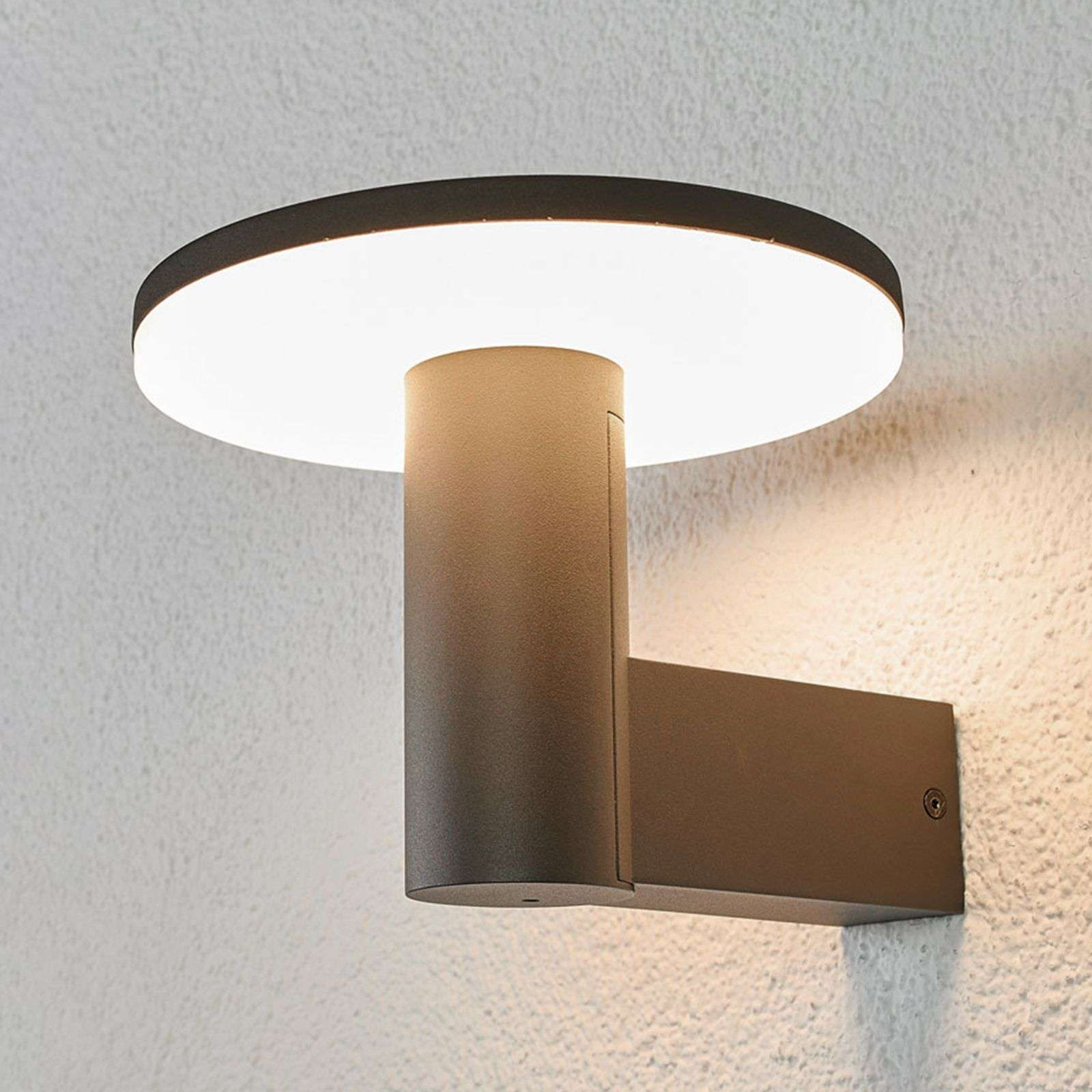 Applique da esterni LED Olesia con luce downlight