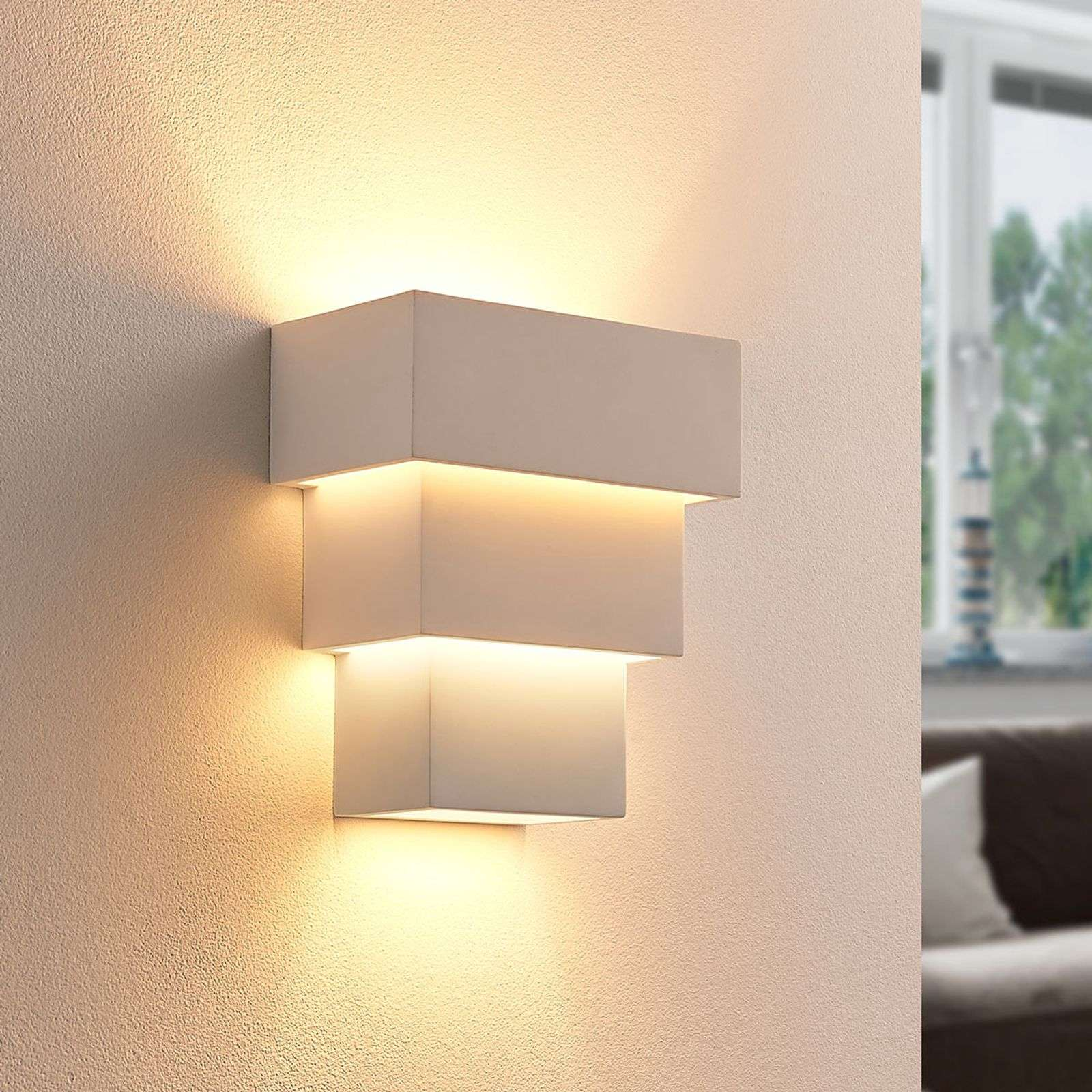 Antonella - efficace applique LED di gesso