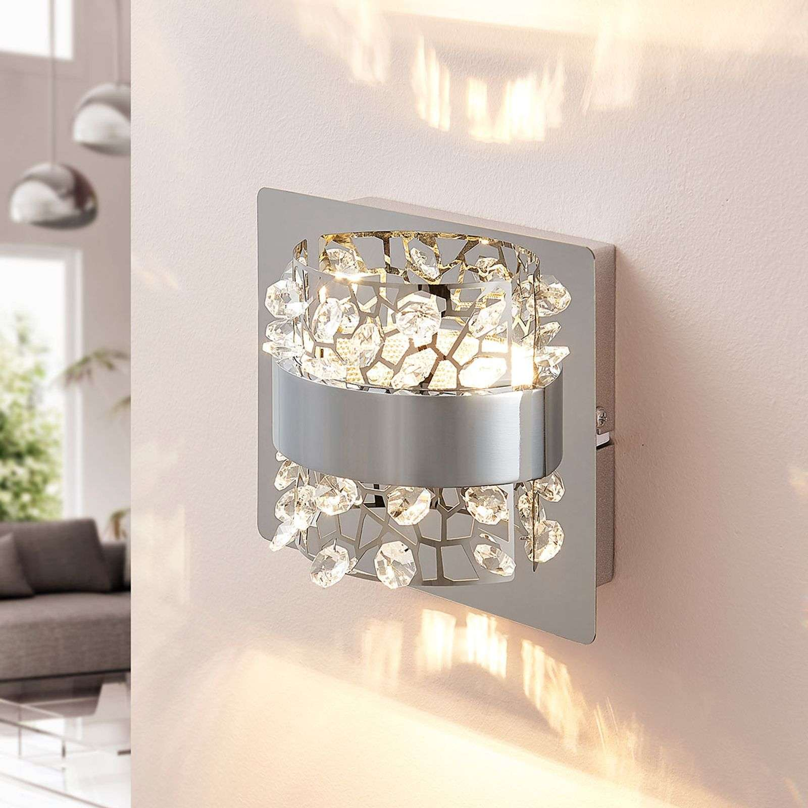 Applique a LED Neelie con decori in vetro a 1 luce