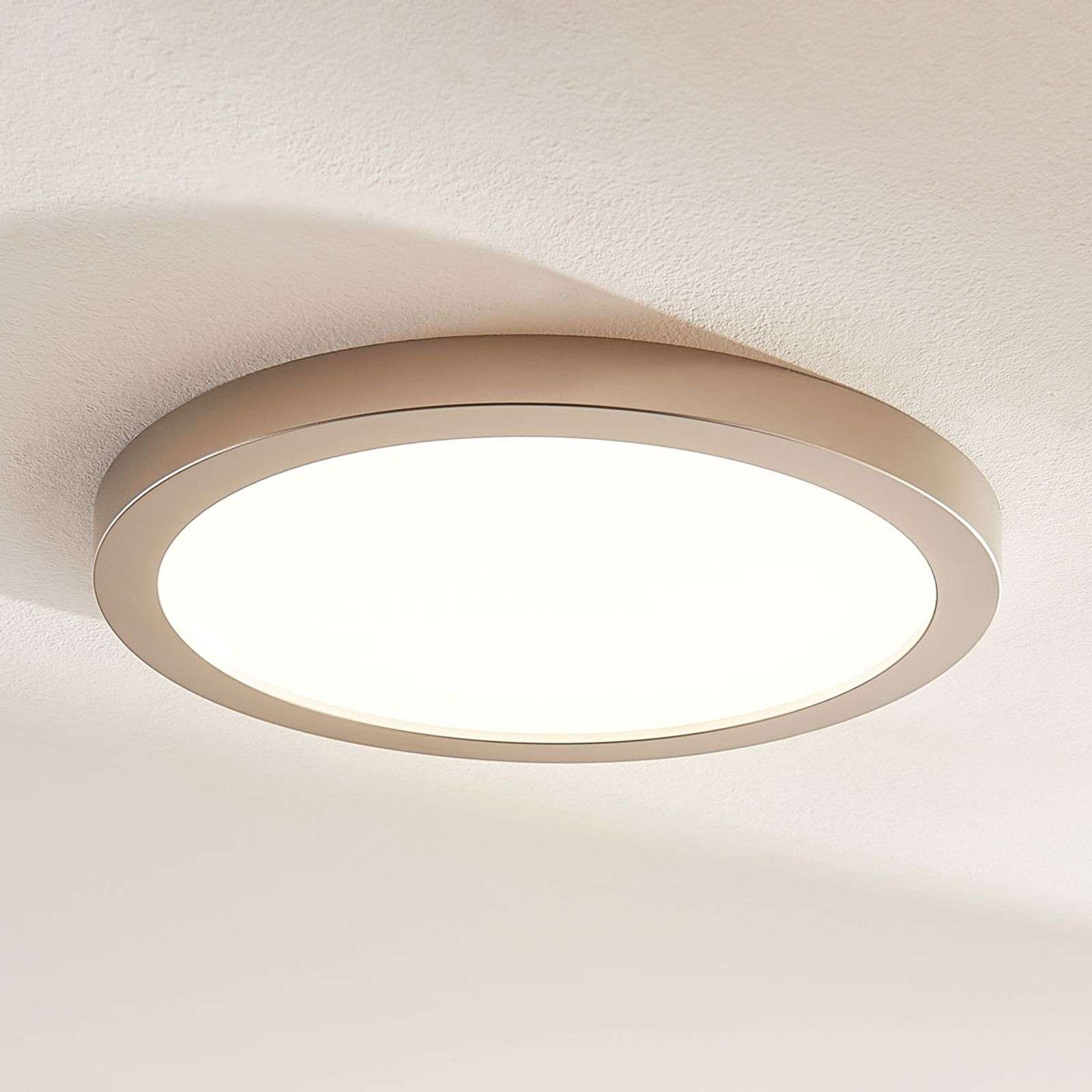 Solvie - plafoniera LED dimmerabile color nichel