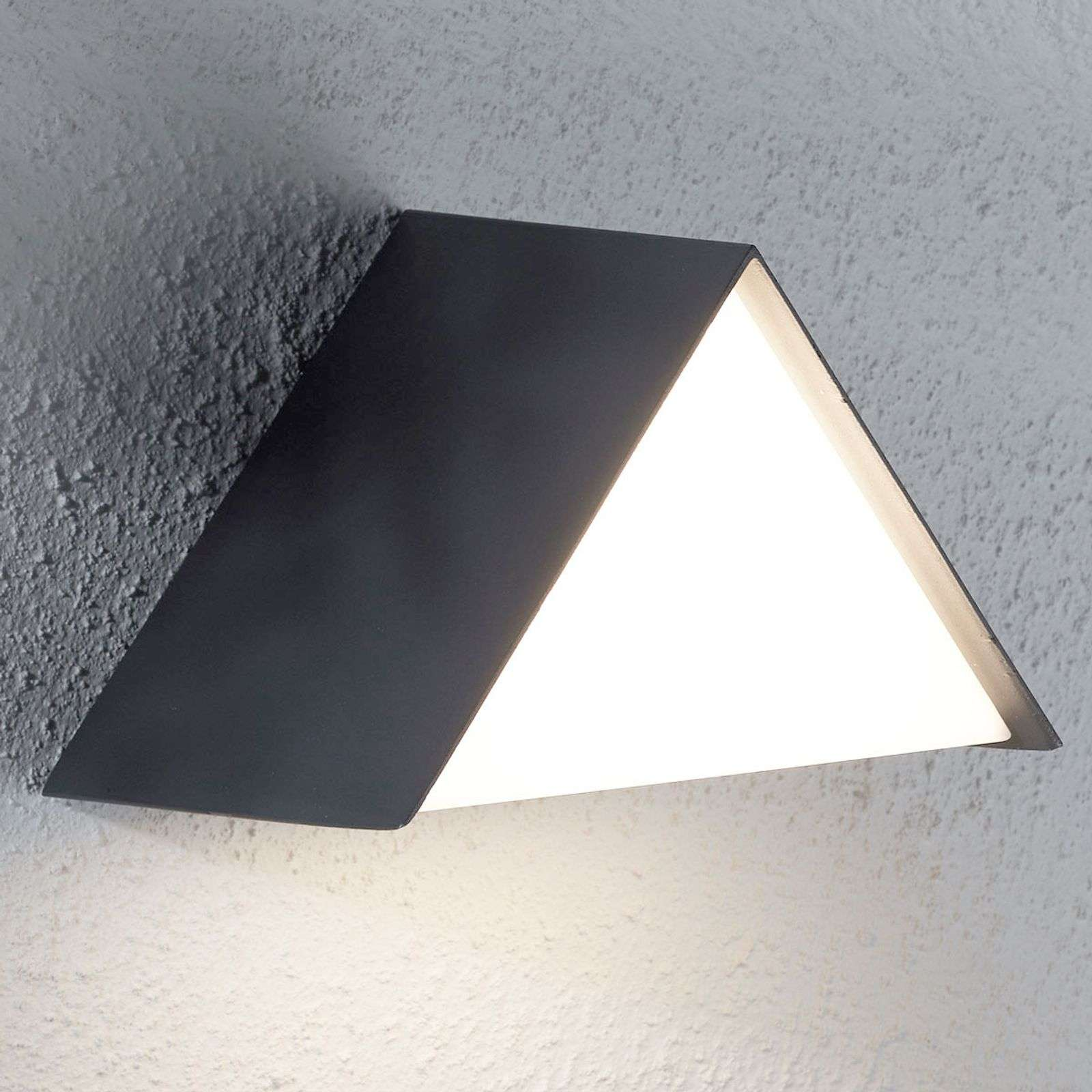 Applique da esterni LED Miana, triangolare a tetto