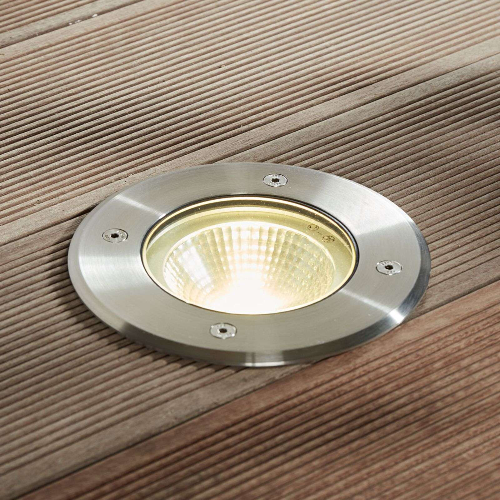 Faretto da incasso da terra LED Sanna IP67 tondo