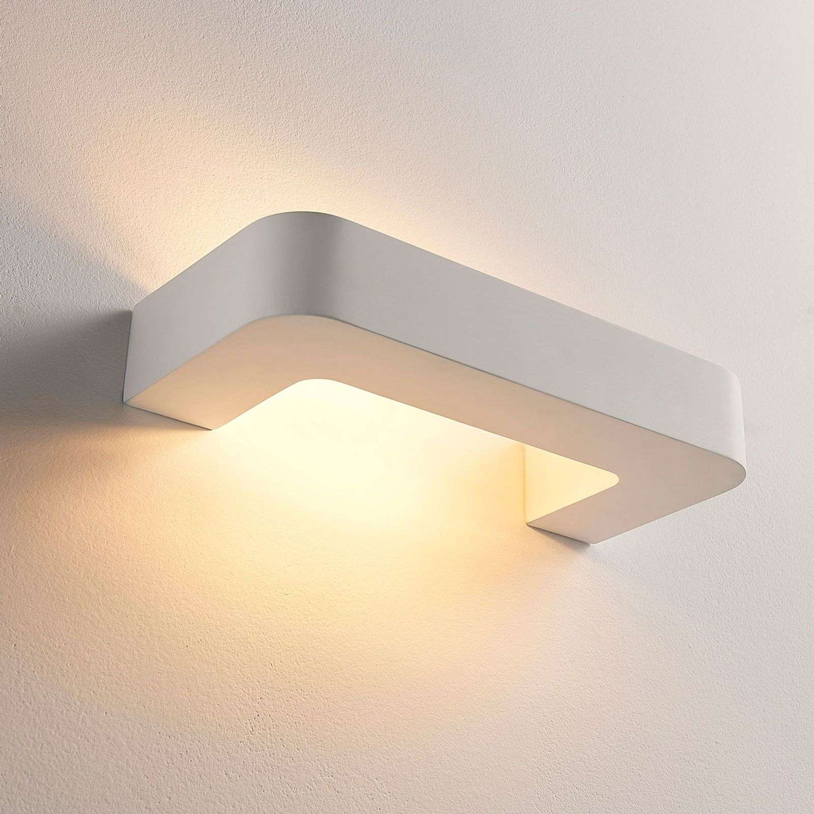Applique LED Julika di gesso a forma di staffa