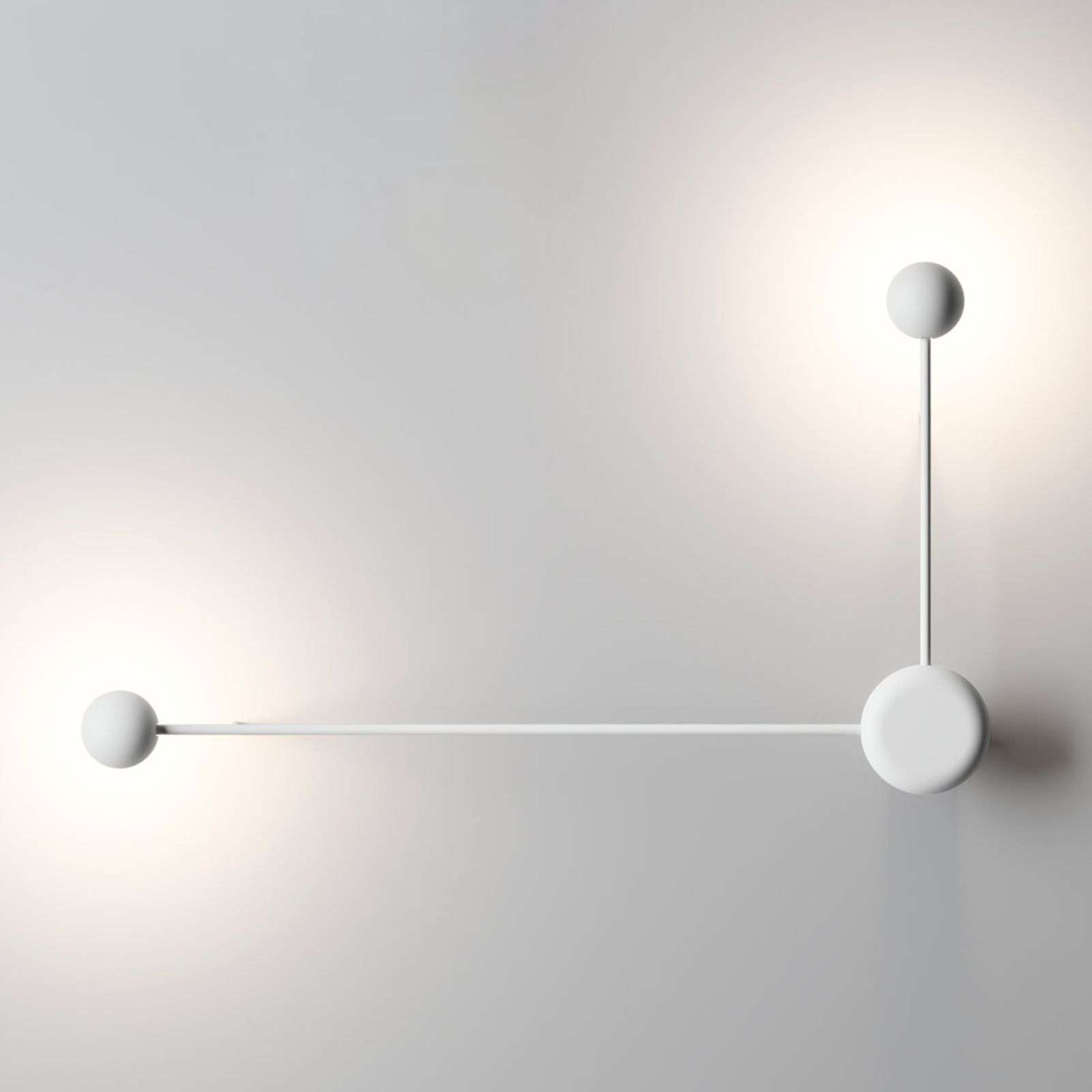 Applique LED Pin a 2 punti luce, bianca