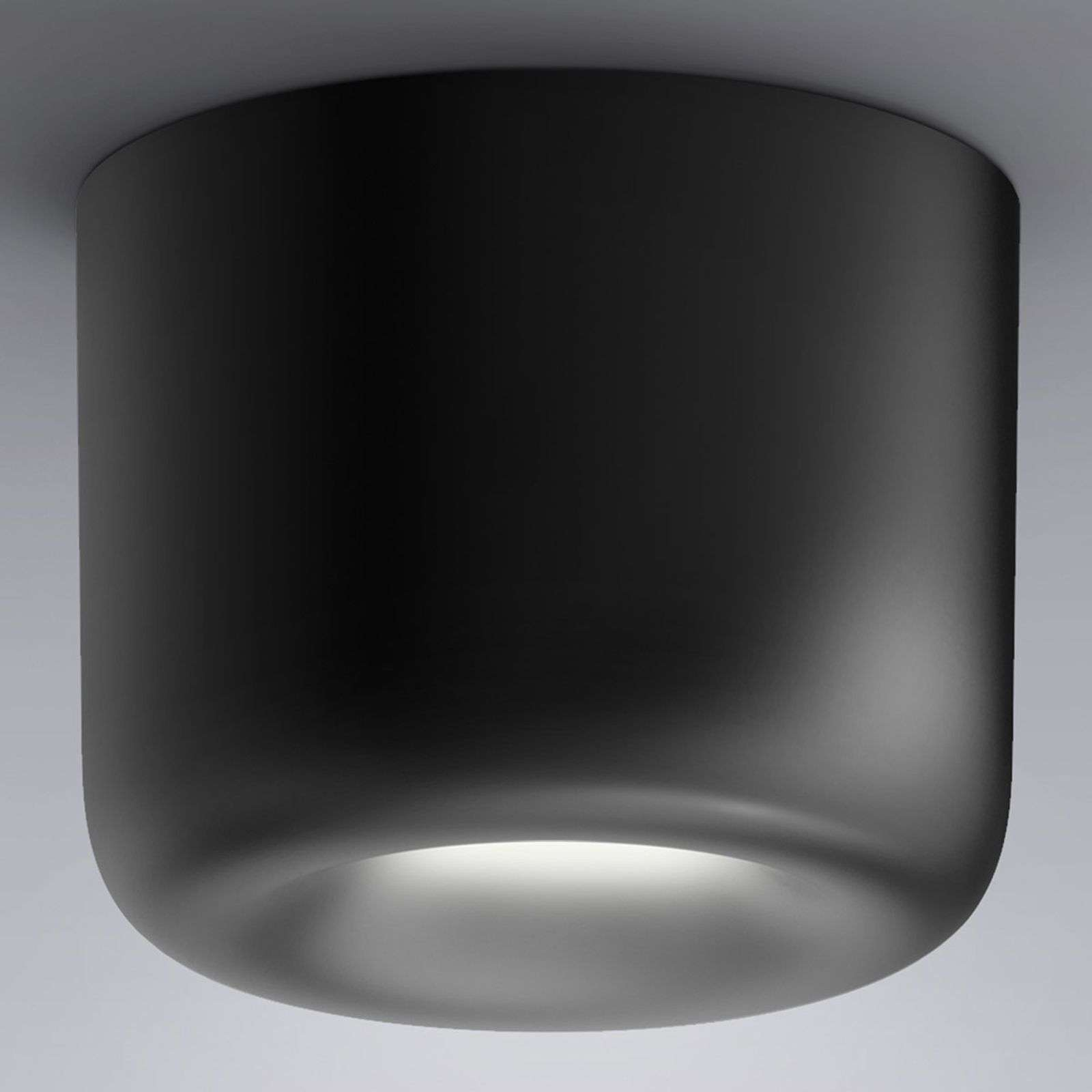 serien.lighting Cavity Ceiling L, nero
