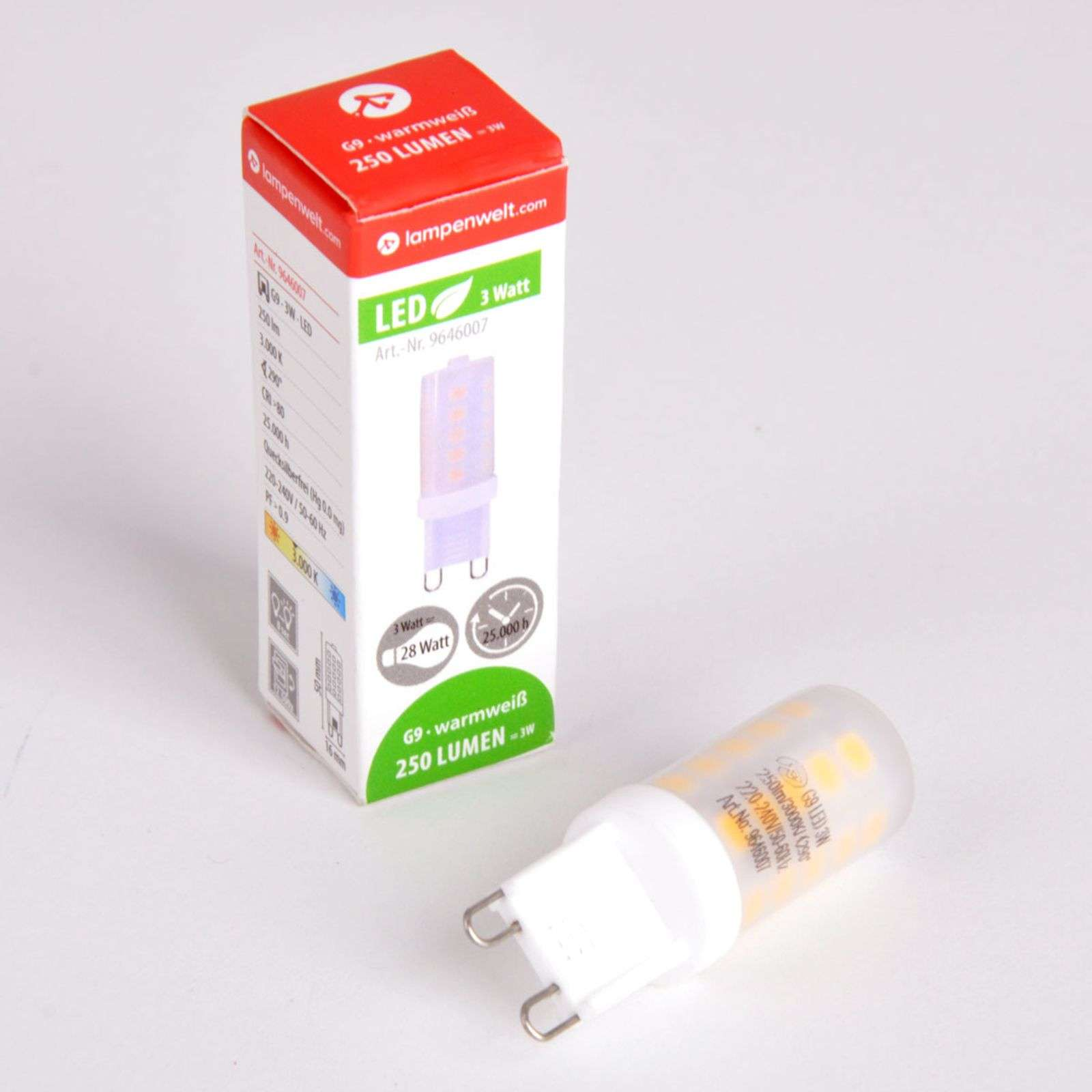 Lampadina LED a spina G9 3 W 830 dimmerabile